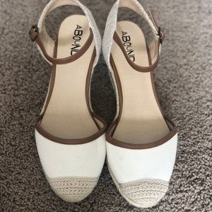 Brown & Cream sandal wedges